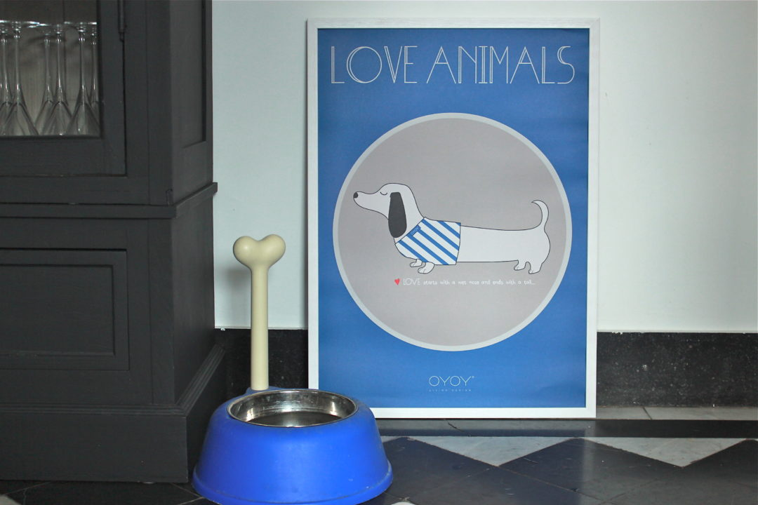 Affiche Love Animals Oyoy SLINKII DOG